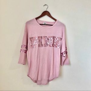 PINK• Mauve Pink Sequence shirt-Q